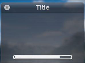 WIndow Interface with Loading Progress Bar