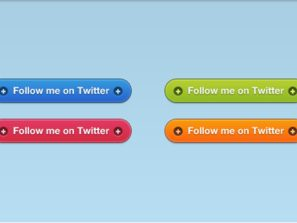 Vibrant Twitter Follow Buttons