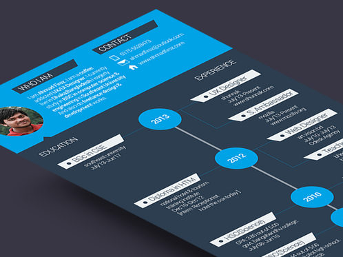 Modern infographic resume free download