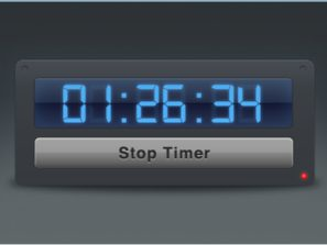 Timer Widget Interface with Blue Digital Numbers