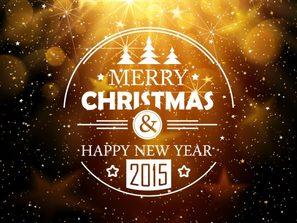bright Halo Christmas card vector