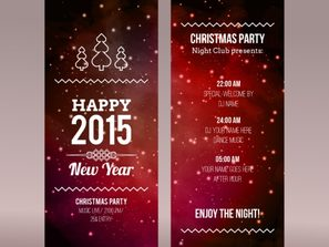 fashionable Christmas party banner vector
