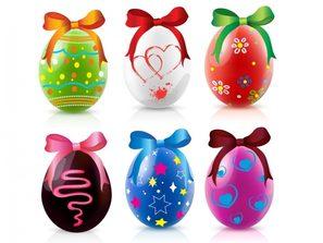 Christmas eggs.
