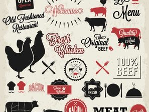 innovative agricultural and livestock products label vector