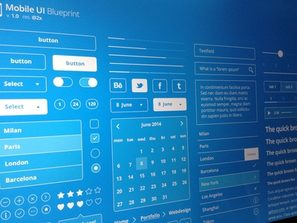 mobile end user interface elements PSD files.