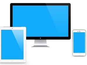 Apple phone, iPad, Laptop, PC template