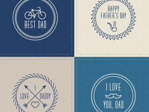 Design factors s: 4 retro far's Day labels vector