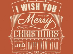 vintage Merry Christmas art word vector map