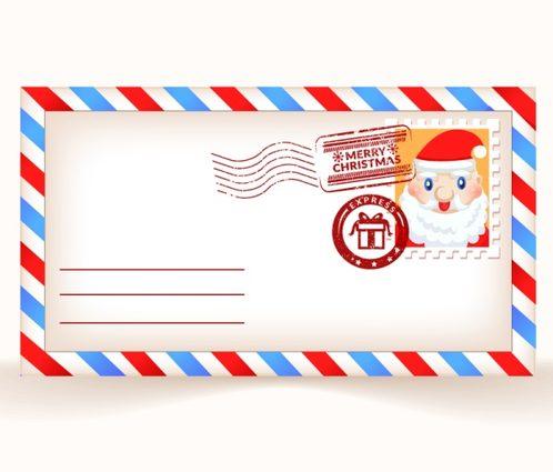 cartoon Santa Claus postcards vector