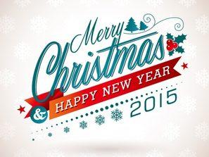 creative Merry Christmas art word vector