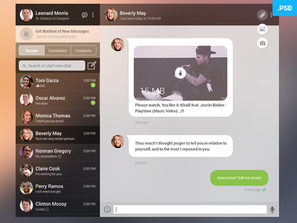 Whatsapp Web Dribbble Shot