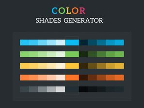 Colour Shades Generator PSD