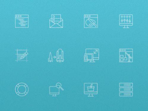 Free Outline Web Icon Set