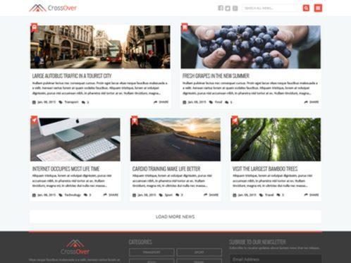 Free PSD  Homepage News Theme