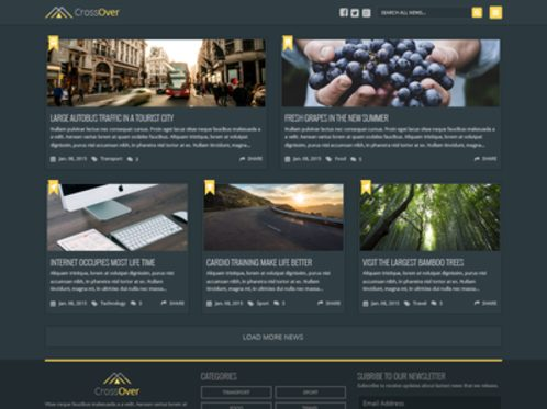 Free PSD  Dark Homepage News Theme