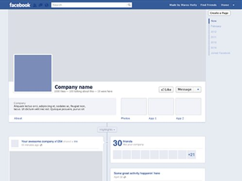 facebook page template free download business / 2018, Powerpoint templates
